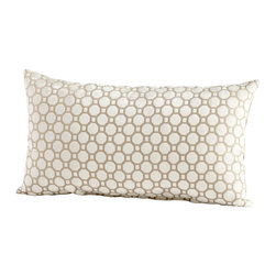 Cyan Design - Cyan Design Raindrops Keep Falling Pillow X-90560 - Octagons have lined up, one after another, row after row, to create the clean geometric pattern of this Cyan Design pillow. From the Raindrops Keep Falling Collection, this contemporary pillow features neutral shades of cream and taupe. This lumbar pillow also features feathers and downs for soft comfort.