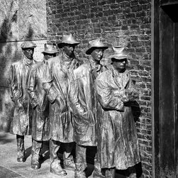 "Breadline, FDR Memorial, Washington DC 18"" X 24"" Print - Breadline, FDR Memorial, Washington DC"