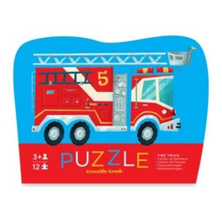 Crocodile Creek - Crocodile Creek 12-Piece Mini Shaped Fire Truck Puzzle - Break out the puzzle fun with this Mini Shaped puzzle by Crocodile Creek. Your child will delight in putting together this 12-piece puzzle and watching it take shape before their eyes. The sturdy, resuable box makes it a great activity for home or travel.