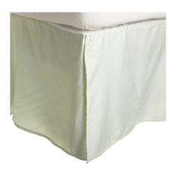 300 Thread Count Egyptian Cotton Twin Mint Solid Bed Skirt - 300 Thread Count Egyptian Cotton Twin Solid Mint Bed-Skirt