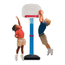 Little Tikes - Little Tikes EasyScore Basketball Set - Give your little one a jump shot--rather, a jump start on playing basketball! This basketball net and back board on a stand with a weighted base adjusts to six different heights, from 1 1/2 feet to 4 feet.