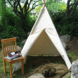 Kids Play Tent, Canvas by Tip Top Teepee Shop - I think you could set up a tent like this in the backyard and the kids would be busy for hours in their imaginary worlds. It would also work well inside a playroom as a reading nook.