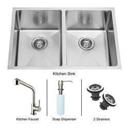 Vigo - Vigo Undermount Kitchen Sink, Faucet and Dispenser, Stainless Steel (VG15028) - Vigo VG15028 Undermount Kitchen Sink, Faucet and Dispenser, Stainless Steel