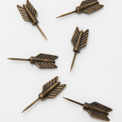 Archer Pushpin - If you keep a corkboard around for inspirations and notes, why not dress it up a little with some unexpected pushpins?