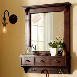 Wall-Mount Entryway Organizer Mirror