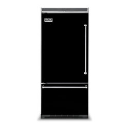 "Viking 36"" Built-in Refrigerator, Black Left Hinge 