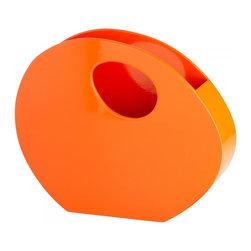 "Joshua Marshal - Orange Lacquer 15.25"" Desk Organizer - Orange Lacquer 15.25"" Desk Organizer"