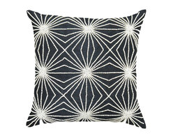 A1 Home Collections - Geometric Beaded Decorative Pillow, 18-Inch, Includes Removable Down Insert. - This exuberant, hand-beaded pillow adds an opulent touch to any bed, sofa or chair.