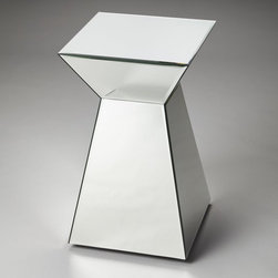 Butler - Butler Emerson Accent Table - Mirror Multicolor - 3190146 - Shop for Tables from Hayneedle.com! Incorporate a bright and glamorous element into your decor with this Butler Emerson Accent Table - Mirror. An geometric wood base is covered in beveled mirror glass panels for a chic and reflective aesthetic.About Butler SpecialtyButler Specialty Company has been designing and manufacturing high-quality occasional and accent furniture since 1930. Each piece reflects Butler's dedication to enduring design exquisite craftsmanship and top-quality materials. This family-owned company is based in Chicago. They scour the globe in search of the finest materials and most efficient means of production reflecting their commitment to providing excellent quality at exceptional value.