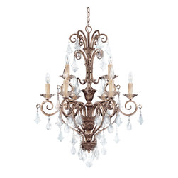 Savoy House - Savoy House 1-1398-9-256 Antoinette 9 Light Chandelier - An exceptionally delicate and refined family that features a combination of graceful pendalogues and charming Almond crystals, with beautifully ribbed bobeches and Cream Beeswax candles. Our New Mocha finish combines bronze and silver to make this a very