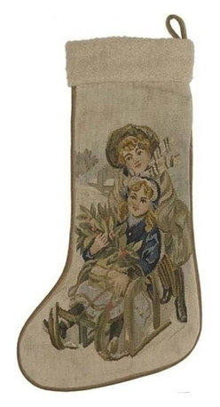 """EuroLux Home - New 13.5""""x20"""" Christmas Stocking Stocking - Product Details"""