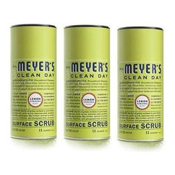 Mrs. Meyer's Surface Scrub - Lemon Verbena - Case Of 6 - 11 Oz - Mrs. Meyers Clean Day Surface Scrub in Lemon Verbena is a non-scratching powder that is made from naturally safe ash and oxygen bleach. It works hard on grimy surfaces throughout your home and leaves your tiles, stainless steel, cookware, and porcelain fixtures sparkling clean. The formula is completely eco-friendly and is chlorine and phosphate free. Mrs. Meyer's Surface Scrub will get any tough job done without harming the planet.