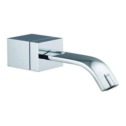 Nameeks - Fima Frattini by Nameeks S2191 Tub Spout - S2191CR - Shop for Bathroom from Hayneedle.com! The Fima Frattini by Nameeks S2191 Tub Spout features stunning contemporary look that accents your bathroom instead of merely outfitting it with another unit. This piece features a thin ribbon-like spout connected to a cube-shaped base. The wall-mounted unit is complete crafted from sturdy solid brass and is available in your choice of either satin nickel or polished chrome finishes to protect against scratches corrosion and rust. A standard 0.5-inch inlet makes this easy to install in most standard US plumbing assemblies. Product Specifications: ADA Compliant: No Country of Origin: Italy Drain Assembly Included: No Mounting Style: Wall Mounted Number of Holes: 1 Overall Height: 1.96 inches Spout Reach: 8.14 inches Swivel: No Valve Included: Yes About NameeksFounded with the simple belief that the bath is the defining room of a household Nameeks strives to design a bath that shines with unique and creative qualities. Distributing only the finest European bathroom fixtures Nameeks is a leading designer developer and marketer of innovative home products. In cooperation with top European manufacturers their choice of designs has become extremely diversified. Their experience in the plumbing industry spans 30 years and is now distributing their products throughout the world today. Dedicated to providing new trends and innovative bathroom products they offer their customers with long-term value in every product they purchase. In search of excellence Nameeks will always be interested in two things: the quality of each product and the service provided to each customer.