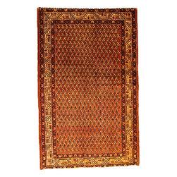 eSaleRugs - 4' 1 x 6' 7 Farahan Persian Rug - SKU: 110897678 - Hand Knotted Farahan rug. Made of 100% Wool. 40-50 Years(Semi Antique).