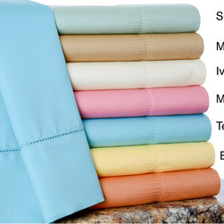 None - 600 Thread Count Cotton Rich Sheet Set - The luxurious 600 Thread Count Cotton Rich Sheet Set is easy to wash. The set is available in seven different vibrant colors.