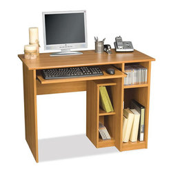 Bestar - Bestar Basic Small Wood Computer Desk in Cappuccino Cherry - Bestar - Computer Desks - 904001168 - The Bestar Basic Small Home Office Computer Desk in Cappuccino Cherry is a piece of furniture designed for your home office.