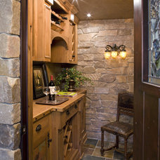Traditional Wine Cellar by Bob Michels Construction, Inc.