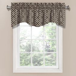 Waverly - Lovely Lattice Onyx 16-Inch Valance - - Drape your home in elegant window curtains by Waverly. Inspired by garden architecture, this 50-inW x 16-inL rod pocket scalloped window valance brings the outdoors in with a traditional white trellis pattern on a black ground. Perfect for kitchen, bedroom, living room or bath. Hang two valances with coordinating curtain panels for optimal coverage and look. Coordinating panel sold separately. 100% cotton, unlined. 3-in rod pocket, fits up to a 2.5-in rod. Valance offers a 2? header for decorative style.  - Machine Wash .Rod sold separately. Waverly - 12459050X016OYX