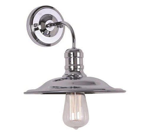 James R. Moder Lighting - Sconce Wall Light in Bronze Finish - 47048BZ - Marine / nautical bronze 1-light sconce. Takes (1) 60-watt incandescent A19 bulb(s). Bulb(s) sold separately. Dry location rated.