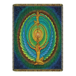 Circles of Light Imports LLC - Infinite Isis Tapestry Throw Blanket, Full Color Tapestry Throw Blanket as Shown - Infinite Isis Tapestry Throw Blanket