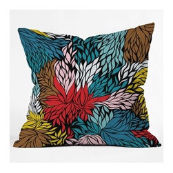 """DENY Designs - Khristian A Howell Nolita Cover Throw Pillow - Wanna transform a serious room into a fun, inviting space? Looking to complete a room full of solids with a unique print? Need to add a pop of color to your dull, lackluster space? Accomplish all of the above with one simple, yet powerful home accessory we like to call the DENY Throw Pillow! Features: -Khristian A Howell collection. -Top and back color: Print. -Material: Woven polyester. -Sealed closure. -Spot treatment with mild detergent. -Made in the USA. -Closure: Concealed zipper with bun insert. -Small dimensions: 16"""" H x 16"""" W x 4"""" D, 3 lbs. -Medium dimensions: 18"""" H x 18"""" W x 5"""" D, 3 lbs. -Large dimensions: 20"""" H x 20"""" W x 6"""" D, 3 lbs."""