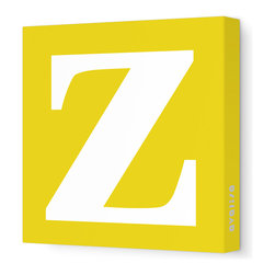 "Avalisa - Letter - Lower Case 'z' Stretched Wall Art, 12"" x 12"", Dark Yellow - Spell it out loud. These lowercase letters on stretched canvas would look wonderful in a nursery touting your little one's name, but don't stop there; they could work most anywhere in the home you'd like to add some playful text to the walls. Mix and match colors for a truly fun feel or stick to one color for a more uniform look."
