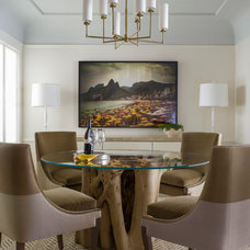 Transitional Dining Room by Thayer Hopkins Architects