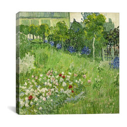 Vincent van Gogh Canvas Print, Daubigny's Garden - Museum-quality canvas print by Vincent van Gogh gallery wrapped and ready for wall hanging with no additional framing required. The canvas print is remarkably bright in color and unrivaled in detail with quality ink that has been light-tested to last over 100 years!