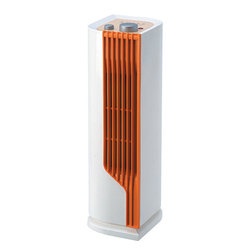 Sunpentown - SPT Stylish Mini Portable Standing Tower Heater - Cozy mini ceramic heater complements any countertopPortable home heater offers safe,soothing warmthHeater's oscillating option provides even heat coverage to gradually warm your room