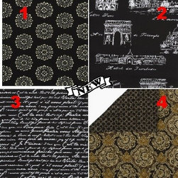 Custom Lampshade - Vanity - Back to Black - Lampshade - Fabric Collection -