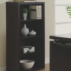 Monarch Specialties 7005 48 Inch Bookcase w/ Adjustable Shelves in Cappuccino
