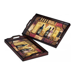 Sterling Industries - Set Of 2 Trays - Set Of 2 Trays