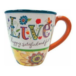 """WL - 4 Inch """"Live"""" 12 oz Coffee/Tea Mug Collectible Kitchen-Ware Decoration - This gorgeous 4 Inch """"Live"""" 12 oz Coffee/Tea Mug Collectible Kitchen-Ware Decoration has the finest details and highest quality you will find anywhere! 4 Inch """"Live"""" 12 oz Coffee/Tea Mug Collectible Kitchen-Ware Decoration is truly remarkable."""