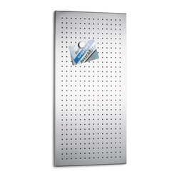 Blomus - Muro Perforated Stainless Steel Magnet Board - Made of stainless steel, perforated matte finish. 1-Year manufacturer's defect warranty. 15.8 in. L x 31.6 in. W