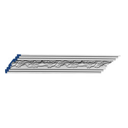 """Inviting Home - Bordeaux Cornice Molding - 12 foot length - Bordeaux cornice molding 3""""H x 3""""P x 4-1/8""""F x 12'00""""L repeat - 6-1/2"""" 4 piece minimum order required crown molding specifications: - outstanding quality crown molding made from high density polyurethane: environmentally friendly material is hypoallergenic and fully recyclable no CFC no PVC no formaldehyde; - front surface of this molding has extra durable and smooth surface; - crown molding is pre-primed with water-based white paint; - lightweight durable and easy to install using common woodworking tools; - metal dies were used for consistent quality and perfect part to part match for hassle free installation; - this crown molding has sharp deep and highly defined design; - matching flexible molding available; - crown molding can be finished with any quality paints; Polyurethane is a high density material--it's extremely lightweight and easy to install (and comes primed and ready to paint). It is a green material meaning its CFC and formaldehyde free. It is also moisture resistant--so it won't shrink flex or mold. What's also great about Polyurethane is that it's completely customizable and can be treated as wood (you can saw it nail it screw it and sand it). In addition our polyurethane material comes primed and ready to paint. There is a four piece minimum requirement for this molding purchase."""