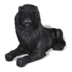 Amedeo Design, LLC - USA - Library Lion Statue - Left Facing - Our Library Lion is classically stylized, crafted and can be statement pieces inside or out. Though they look like ancient European & Mediterranean designs in carved stone, our products are made of lightweight weatherproof ResinStone. So authentic, you actually have to lift them to convince yourself they're not stone at all! Made in USA.