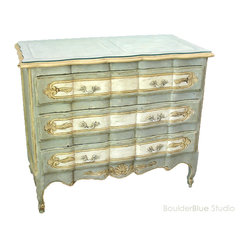 French Style Dresser with Glass Top