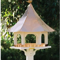 Lazy Hill Carousel Bird Feeder With Copper Roof - This birdhouse does look like an old time carousel that gives it a whimsical feel. It would be a fun addition to a back yard year round.
