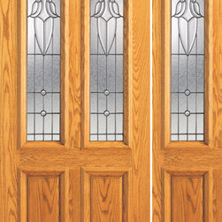 "Prehung Mahogany Twin Lite, Arch Lite Entry 1 Sidelite Glass Door - SKU#    102-A-1-1Brand    AAWDoor Type    ExteriorManufacturer Collection    Unique Entry DoorsDoor Model    Door Material    WoodWoodgrain    MahoganyVeneer    Price    2212Door Size Options    [30""+12"" x 80""] (3'-6"" x 6'-8"")  $0[30""+18"" x 80""] (4'-0"" x 6'-8"")  $0[32""+12"" x 80""] (3'-8"" x 6'-8"")  $0[32""+18"" x 80""] (4'-2"" x 6'-8"")  $0[36""+12"" x 80""] (4'-0"" x 6'-8"")  +$20[36""+18"" x 80""] (4'-6"" x 6'-8"")  +$20[42""+12"" x 80""] (4'-6"" x 6'-8"")  +$150[42""+18"" x 80""] (5'-0"" x 6'-8"")  +$150Core Type    SolidDoor Style    TraditionalDoor Lite Style    Twin Lite , Arch Lite , 2/3 LiteDoor Panel Style    2 Panel , Raised MouldingHome Style Matching    Colonial , Plantation , VictorianDoor Construction    Engineered Stiles and RailsPrehanging Options    PrehungPrehung Configuration    Door with One SideliteDoor Thickness (Inches)    1.75Glass Thickness (Inches)    3/4Glass Type    Triple GlazedGlass Caming    BlackGlass Features    Insulated , TemperedGlass Style    Glass Texture    Glue ChipGlass Obscurity    Moderate ObscurityDoor Features    Door Approvals    FSCDoor Finishes    Door Accessories    Weight (lbs)    510Crating Size    25"" (w)x 108"" (l)x 52"" (h)Lead Time    Slab Doors: 7 daysPrehung:14 daysPrefinished, PreHung:21 daysWarranty    1 Year Limited Manufacturer WarrantyHere you can download warranty PDF document."
