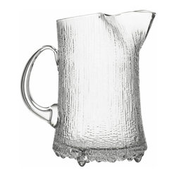 Iittala - Ultima Thule Pitcher 1.5 Quart Clear - Every meal calls for a pitcher of ice cold water on the table. And what better way to serve this refreshment than in a piece made to look like ice? Add a few slices of lemon and cucumber and you'll be ready to hydrate in style.