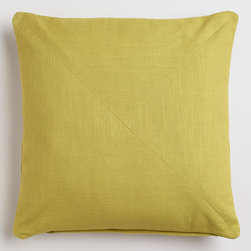 World Market - Oasis Green Cotton Herringbone Throw Pillow - Our exclusive Oasis Green Cotton Herringbone Throw Pillow features a beautiful hue and a soft touch for a classic update to any setting. With sophisticated mitered seams and a complementary removable insert, it's a perfect accent piece available at a fantastic price.