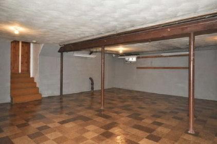 traditional basement by Christina Katos