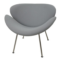 Slice Chair - Light Grey - Item Number: KHA-CH5083-GRY