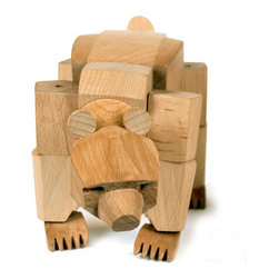 Areaware - Ursa The Bear - Ursa's powerful hardwood frame can hold many poses, and her elastic-band muscles and durable wood limbs make her almost impervious to breakage. An enduring classic that will withstand generations of play.