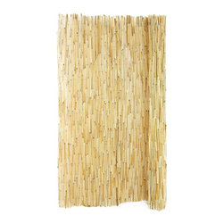 Backyard X-scapes - Backyard X-Scapes Peeled Reed Fencing - RF01 - Shop for Landscaping Supplies from Hayneedle.com! Constructed from fresh water reed grown along riverbanks and wetlands Backyard X-Scapes Peeled Reed Fencing provides an affordable and convenient way to enhance your landscape. Not only is it aesthetically pleasing and eco-friendly but it also functions to add texture to an otherwise one-dimensional setting. To promote durability and longevity the fencing comes pre-assembled and is woven with durable vinyl-coated wiring. Whether you're looking to add privacy to your backyard or hoping to achieve a natural island look Peeled Reed Fencing is a great option. About Backyard X-ScapesBackyard X-Scapes was founded in 2000 to provide an escape from busy everyday life and help people relax in their very own backyards. Backyard X-Scapes specializes in creating peaceful environments and breathtaking landscapes with planet-friendly products created from renewable resources. Garden ponds water fountains palapas gazebos thatched umbrellas bamboo products artificial grass and other landscaping products all contribute to a soothing experience.