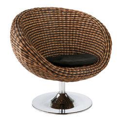 Eurostyle - Oliana Swivel Chair-Triple Brown - Triple brown rattan