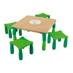 Wesco Chameleon Table and 4 Stools - About WESCOFor more than 30 years, WESCO has been proud to be a leader in children's developmental products. WESCO specializes in products from preschool products, sport and motor skills, soft furniture, sand and water tables, to playground equipment; educational toys, soft play equipment, and child play mats. WESCO products are fire retardant, easy to clean, extra-safe, and provide the upmost in fun and learning equipment combined in one.