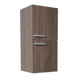 Fresca - Fresca Black Bathroom Linen Side Cabinet w/ 2 Storage Areas, Gray Oak - Fresca Gray Oak Bathroom Linen Side Cabinet w/ 2 Storage Areas