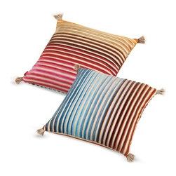 Missoni Home - Missoni Home   Jacaranda Coral Pillow 12x12 - Design by Rosita Missoni.