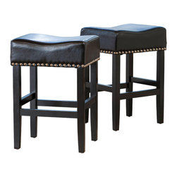 Nailhead Trim Leather Bar Stool Bar Stools Amp Counter